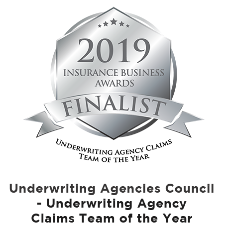 Underwriting Agency Claims Team of the Year - 2019 FINALIST